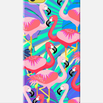 FLAMINGO iPhone 5c Case, Birds iPhone Case, Neon iPhone Case, Tropical Print Phone Case, Parrots print, Tropical bird case, Girly phone Case