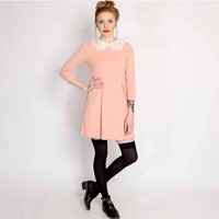 Ark Pink Lillian Peter Pan Collar Dress | ARK
