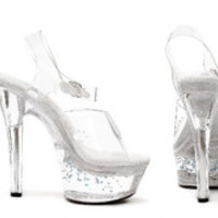 "Women's 6"" Heel Clear Mule W/ Floating Stars"