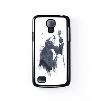 Wolf Song 3 Black Hard Plastic Case for Samsung Galaxy S4 Mini by Balazs Solti