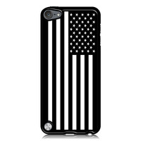 Black & White American Flag Case for Apple iPod Touch 5