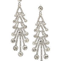 Crystal Accented Earrings in Silver – bandbcouture.com