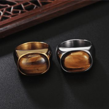 Ferocity Tiger Eye Signet Ring