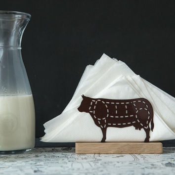 Napkin holder COW metal