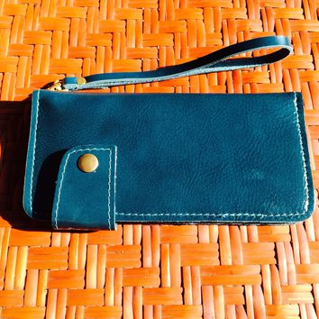 Leather Phone Wallet / Wristlet / Card Holder / Iphone 6 Case