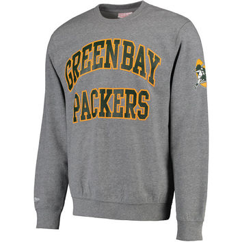 Men's Green Bay Packers Gray Mitchell & Ness Start of the Season Fleece Sweatshirt