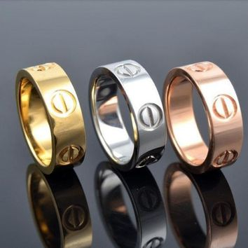 ESBON0 New Fashion Jewelry Screw Shape 3 Color Stainless Steel Unisex's Ring Best Gift! £¨With Thanksgiving&Christmas Gift Box£©= 1930098116