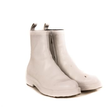 balenciaga white zip boots with drip soles 2