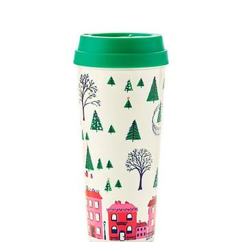 Holiday Village Thermal Mug