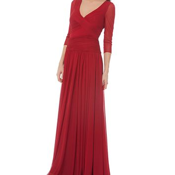 JS Collections Surplice Matte Jersey Gown | Dillards
