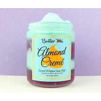 Almond Cremé Layered Whipped Soap Fluff 8oz