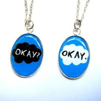 The Fault In Our Stars: Okay? and Okay. his and hers couple necklaces