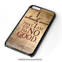 Harry Potter Quote - I Solemnly Swear That I Am Up To No Good Black Design for iPhone and iPod Touch Case
