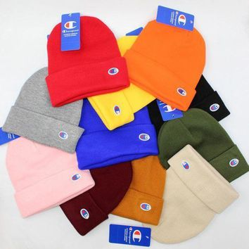 Champion Knit Korean Embroidery Couple Hats [61887152140]