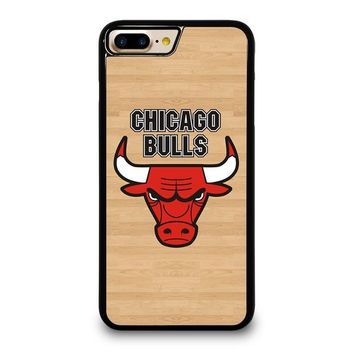 CHICAGO BULLS LOGO WOODEN iPhone 4/4S 5/5S/SE 5C 6/6S 7 8 Plus X Case