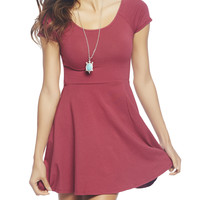 Crossed Back Skater Dress | Wet Seal