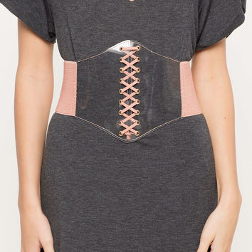 See Through Me Lace-Up Belt