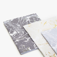 MARBLE PRINT NOTEBOOKS (SET OF 3) - DIARIES AND NOTEBOOKS - DECORATION | Zara Home Australia