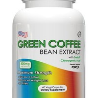 Green Coffee Bean Extract With Svetol - 800mg Per Serving, 60 Vegetarian Capsules, No Fillers, 50% Chlorogenic Acids, 1 Month Supply (Contains Svetol)   deviazon.com