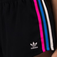 adidas Multicolor Side Stripe Athletic Short with Elastic Waistband in Black