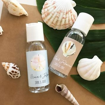 Personalized Tropical Beach Hand Sanitizer