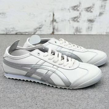 ASICS GEL LYTE Onitsuka Tiger Women Men Running Sport Casual Shoes Sneakers White+Sliver G-A0-HXYDXPF