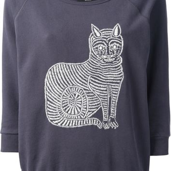 Omsk Embroidered Cat Sweater