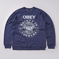 Flatspot - Obey Rocket To Nowhere Sweatshirt Heather Dark Navy