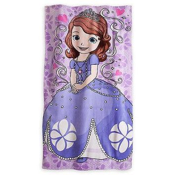 Licensed cool NEW Disney Store SOFIA THE FIRST PRINCESS FLOWERS  BEACH TOWEL POOL BATH 30x60