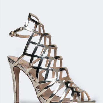 Laser Cut High Heel