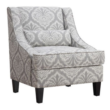 Jacquard Patterned Accent Chair