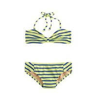 Girls' string halter bikini set in stripe - two-pieces - Girl's swim - J.Crew