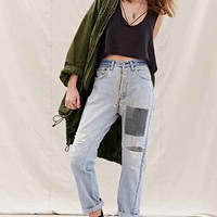 Urban Renewal Recycled Patched Workwear Jean- Indigo