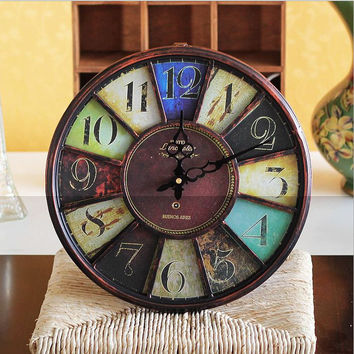 Vintage Iron Luxury Clock [6282924230]