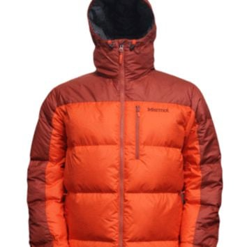 Marmot Mens Jacket Guides Down Hoody Sunset Orange-Orange Rust