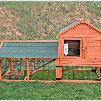 TRIXIE Rabbit Hutch with Outdoor Run and Wheels | www.hayneedle.com