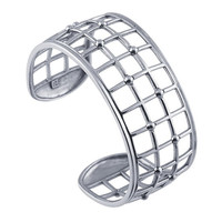Sterling Silver Open Squares Cuff Bracelet  Custom Made in the USA