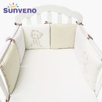 Sunveno newborn bedding room baby bed bumper cartoon cot safety protection crib decoration for baby stuff cotton infant 6pcs/Set