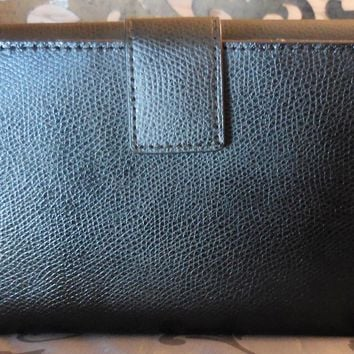 MICHAEL KORS ~FLORENCE Large Billfold LEATHER Clutch Wallet ~BLACK~ NWT $168