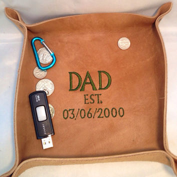 Leather Valet Tray/ Caddy/ monogrammed Groomsmen Gifts