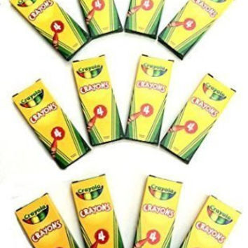 12 Boxes Crayola® 4-ct. Crayon Party Favor Pack Spring Colors
