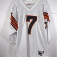 Authentic Mitchell & Ness Boomer Esiason NFL Football Bengals Jersey Size 56 *Q