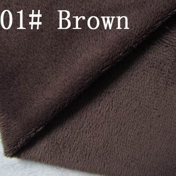 501# deep brown Super soft velvet fabric microfiber velboa hair height 0.5-1.5mm for DIY stuffed toy  pillows(10 pieces)
