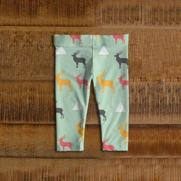 Deer Baby Leggings, Toddler Leggings, Elk Leggings, Infant Leggings, Baby Pants