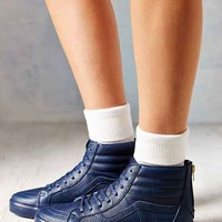 Vans Sk8-Hi Zip Leather Women's Sneaker- Navy