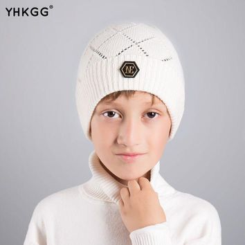 CREYHY3 YHKGG2016 last brand new knitted  kids warm cap solid color children beanies boys girls outdoor  winter
