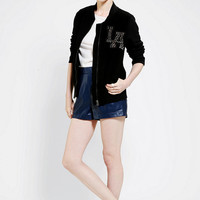Urban Outfitters - L'America Studded Letterman Jacket