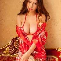 Hot Women Lingerie Sleepwear Robe Japanese Kimono Costume Uniform Nigh Gown