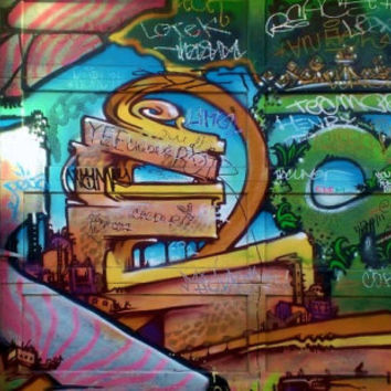 One Thousand Tags - San Fransisco Tag Art - Clarion Alley Street Art - Wall Art Home Decor - Fine Art Photography - Industrial Urban Style