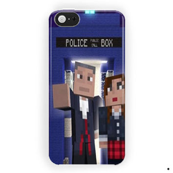 Minecraft  Doctor Who Skin Pack For iPhone 5 / 5S / 5C Case